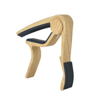 Wholesale wooden clamps for sale - Group buy 6 String Acoustic Wooden Guitar Capo Key Clamp Clip on Guitar Capo