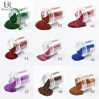 Atacado - 1pcs 10g Jar Sequin Dust Gem Nail Art Glitter Decorações Acrílico UV Glitter Powder 3D Nail Art Tips DIY Craft Manicure Tool # 1-9