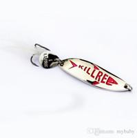 Wholesale Silver Lures - free shipping, fishing lure,precised polish spoon, precise polish golden silver Shell spoon fishing lures, perfect curve design fish killer