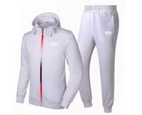 Wholesale Korean Slim Men S Suit - BBC sweat suit 2017 South Korean Men tight thin cotton fashion leisure Sweatshirts set Male brand sports hoodies + pants Tracksuits