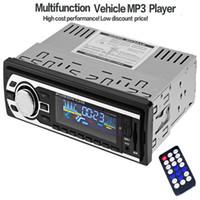 2gb ram chinesisch mobil groihandel-Hohe Qualität 12 V Auto Radio Audio Stereo FM SD MP3 Player AUX USB In-Dash 1 DIN Auto Elektronik mit Fernbedienung