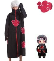 cosplay al por mayor-Al por mayor-Naruto Akatsuki Capa Cosplay Disfraz Orochimaru Itachi Uchiha Madara Sasuke Pein Robe Disfraces XS-XXL