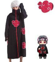 costume de naruto akatsuki itachi uchiha achat en gros de-Costume Cosplay en gros-Naruto Akatsuki Manteau Cosplay Costume Orochimaru Itachi Uchiha Madara Costumes Sasuke XS-XXL
