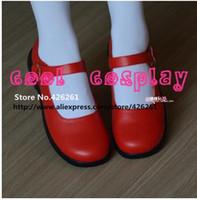 Wholesale Dance Costume Dolls - Wholesale-Japanese Anime cosplay school uniform shoes lolita punk vocaloid dance maid princess JK doll shoes