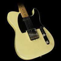 Wholesale Custom Tl - Custom Shop Deluxe Tele Caster TL Cream White Used Esquire Blonde Electric Guitar Free Shipping String Thru Body Black Pickguard