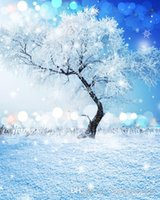 Wholesale Chinese Photography Background - 5x7ft Frozen Winter Ice Willow Tree Ball Snowman Gifts Photo Studio Props Vinyl Backgrounds Photography Backdrops