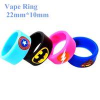 vip slip groihandel-Silikon-Anti-Rutsch-Ring Vape Mod Ring für mechanischen Mod RDA RTA RBA und Glas-Behälter 22mm Non Slip Gummiband Art und Weise dekorative