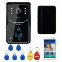 Wholesale Wireless Home Intercom Doorbell System - Wireless Video Door Phone Unlock Night Vision DoorBell Home Intercom System IR RFID Camera with Touch Key Support Motion Detection Record