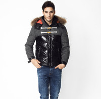 Wholesale male models clothes for sale - Fall Men s brand fashion High quality white duck down winter male models down jacket down coat winter hood clothing