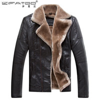Wholesale Men S Clothing Discounts - Fall-Discount urban clothing mens wool winter coats waterproof designer leather jackets with fur