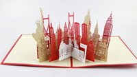 Wholesale Greeting Cards Pop - New York City skyline in Pop up card greeting card 3d gift card gift for travelers