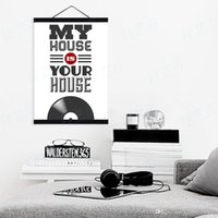 Digital printing original vintage poster - Modern Minimalist Black White Pop Vintage Music A4 Large Poster Prints Original Letter Quotes Canvas Painting Home Wall Art Gift