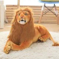 jouet en peluche de lion achat en gros de-Peluches farcies Jouet Simulation Big Lion Doll Cartoon Simba le Lion Haute qualité pour les enfants Boy Girl Birthday Christmas Gift
