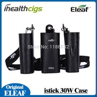 Wholesale Ego Case Lanyard - lectronic Cigarettes Electronic Cigarette Accessories Original Ismoka eleaf istick 30W leather case carry cases with ego lanyard for ist...