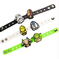 Neueste Hot Star 2016 neue Kriege Silikon-Armbänder Cartoon Darth Vader Yoda Armband Erwachsene Kinder Soft-Bangles Weihnachtsgeschenke Top-Qualität