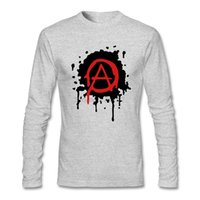 Wholesale Cheap Punk Shirts - 2018 Long sleeves mens Anarchy Logo Tee Shirts punk design Tubthumping Tees for Mens Full Sleeve retro t shirts Cheap Price
