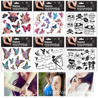 black and white butterfly tattoos - Personalized tattoo stickers D three dimensional color butterfly lip black and white tattoo sexy lasting waterproof tattoo