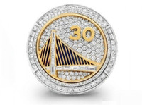 Wholesale Rhinestone Basketball Jewelry - 2015 Golden Basketball Warriors sale replica championship rings men jewelry wholesale Free shipping New Sport Fans