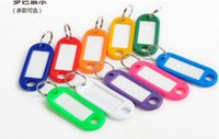 Wholesale Plastic Classic Labels - Dhl Free 1000pcs Plastic Key Ring ID Tags Name Card Label Luggage Tags Keychain Assorted label classification