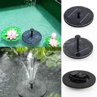englische gartenarbeit großhandel-1,4 W schwimmende Solarwasserpumpe Gartenpflanzen Bewässerung Power Brunnen Pool mit Englisch Manaul