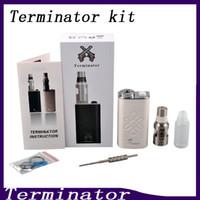 Wholesale Feeder Kits - Terminator Box Mod Starter Kit Terminator Mods Bottom Feeder 18650 Battery 510 Thread Firing Button Vs Lucifer Box Mod Kbox 120W 0211199
