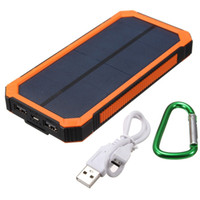 Wholesale Cellphone Power Pack - High Quality 10000mAh Solar Charger 1.5w Solar Panel Universal Solar Power Bank For Cellphone and Tablets Power Pack