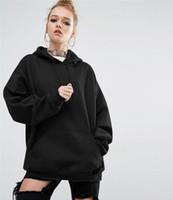 Wholesale Bat Hoody - 2017 Women Fashion Sport Fleece Sweatshirt Women Hoodies Long Sleeve Bat Sleeves Hooded Jacket Jogging Sportswear Hoody Pullover Plus Size S