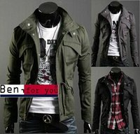 Wholesale Mens Sexy Jackets 3xl - Hot Mens Fashion Slim Fit Sexy Top Designed Hoodies Jackets Coats 3Color 4Size Hot sale men's jackets