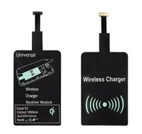 Wholesale Qi Wireless Receiver Iphone - Universal Qi wireless charger receiver module fast speed charging adapter for samsung galaxy S3 S4 S5 iPhone 5 6S 6SP