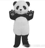 panda fantasia vestido adulto venda por atacado-Frete Grátis New Panda Mascot Costume Fantasia Vestido Adulto Tamanho: S M L XL XXL