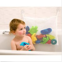 Wholesale Plastic Bag Organiser - Toy Storage Bag Kids Baby Time Bath Toy Tidy Storage Suction Cup Bag Mesh Bathroom Organiser Net Playing In The Water Bath Toy Included Bag