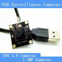 grabadora hd espía al por mayor-Mini CCTV Cámara de vigilancia cuadrada HD 1.3 megapíxeles módulo de cámara de visión nocturna USB 2.0