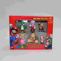 Wholesale Super Marie Box - Super Mario super Marie Mario Louis doll model PVC 3 generation 6 boxed ornaments