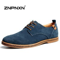 Wholesale Warm Dress Shoes For Men - ZNPNXN Men Shoes Casual Genuine Leather Flats Shoes Men Summer Cool&Winter Warm Boots For Men Oxford Shoes Big Size 38-48