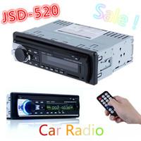 Wholesale Auto Radio Audio - Hot Car Radio Stereo Auto Audio In-dash Single Din FM Receiver 12V Bluetooth Aux-In Input Receiver USB MP3 MMC WMA Radio Player
