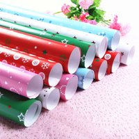 Wholesale Parchment Printing Paper - 51*72cm Christmas Gifts Packaging Paper Gifts Wrapping Paper For Birthday Party Wedding Christmas Decorations Gifts Packaging Party Supplies