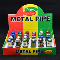 Wholesale Independent Smoke - Smoking pipe wholesale hot Metal portable small nipple pipe independent innovation Metal smoking pipe