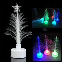 LED Árvore de Natal Cor Changing Light Party Christmas Tree Nightlight levou lâmpada Decorações de Natal para Dom New Year Gift