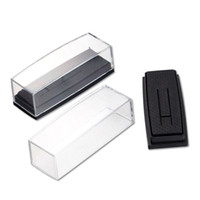Wholesale tie gift box packaging - Clear Cover Box for Tie Clip Pin Gift Boxes Wedding Engagement Favours Stickpin Display & Packaging Casket ZA5084