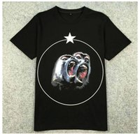 Wholesale monkey top - new funny T-shirt women men brand clothing black Monkey Brothers head star printed T shirt male top quality 100% cotton Tops Tees