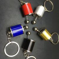 Wholesale Fancy Keychains - 1 pc hot selling Fancy Modified Turbo Keychains Gear Head Key Chain Wave Box Keyring Key Rings Keyfob Accessories Free Shift