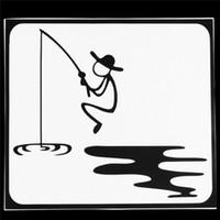 наклейки с яблоками оптовых-Рыбалка шаблон виниловые наклейки наклейка для Apple для Macbook 13.3
