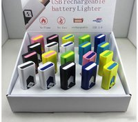 Couleur USB Cigarette Briquets Portable Electronic Batterie Rechargeable Cigarette Flameless Ligtehr avec flash parfait paquet DHL