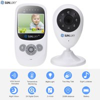 Wholesale Video Color Temperature - Wholesale- SUNLUXY 2.4'' Color Video Wireless Baby Monitor Night Light Babyphone Security Camera 2 Way Talk Digital Zoom Music Temperature