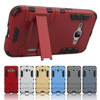 Wholesale Iron Man Cases - For Samsung 2016 J5 J7 J1 J3 A5 A7 A3 Iron Man Armor Stand Defender Hard Case Cover For Galaxy A510 J120 J510