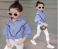 Wholesale collars for blouses for sale - Girls Shirt Autumn Kids Long Sleeve Striped Top Girl Fashion Shirt Kids Outwear Clothing for Y