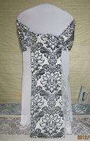 Wholesale Damask Sashes - wholesale damask flocking wedding chair sash