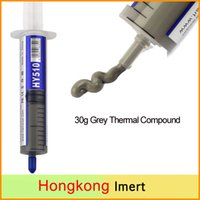 Wholesale Ball Grease - New 30g Grey Thermal Grease Paste Compound Silicone For CPU Heatsink Processor Cooling paste Thermal grease Original Packed