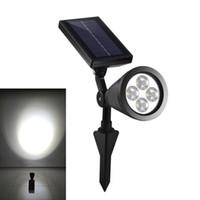 Wholesale portable rechargeable spotlight resale online - 2nd Generation Outdoor Waterproof Led Solar Spotlight Adjustable Angle leds Solar Rechargeable Garden Lawn Lamp Landscape Spot Lights