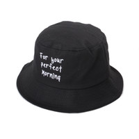 Wholesale Fresh Fitted Hats - 4 Color Fresh Bucket hats Buckets caps Bucket Hats Baseball Caps Cap Snap Back Snapbacks Hat High Quality Mixed Order A058